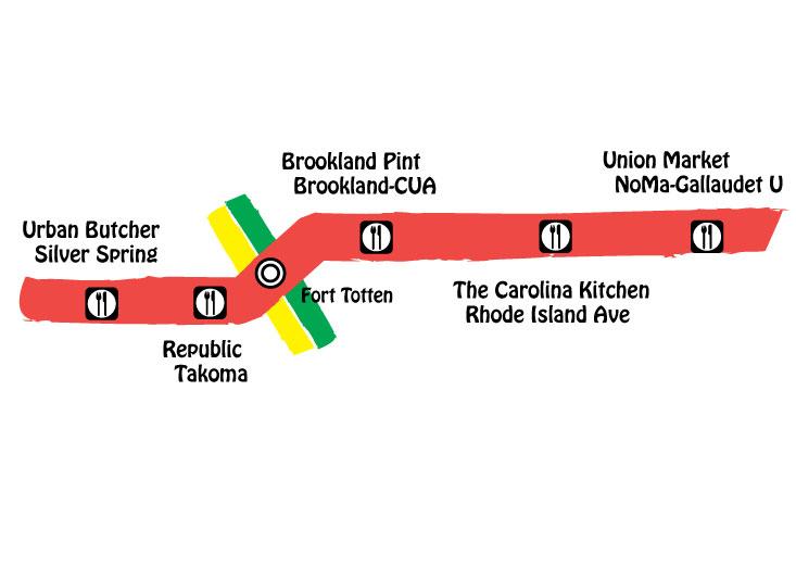 map of redline east metro food crawl