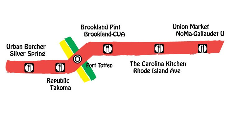 map of redline east metro food crawl