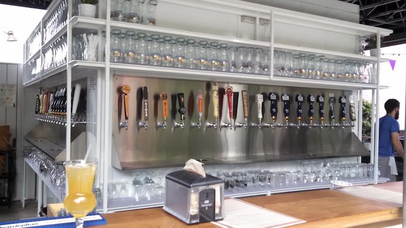 Dacha beer garden taps