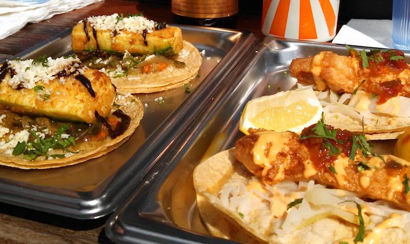calabacita and fish tacos