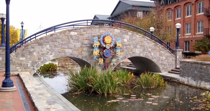 bridge over carroll creek park frederick maryland