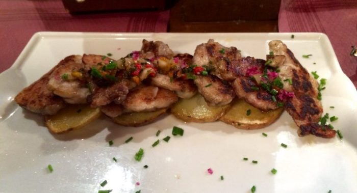 Lamb sweetbreads with chimichurri at Tapeo De Cervantes