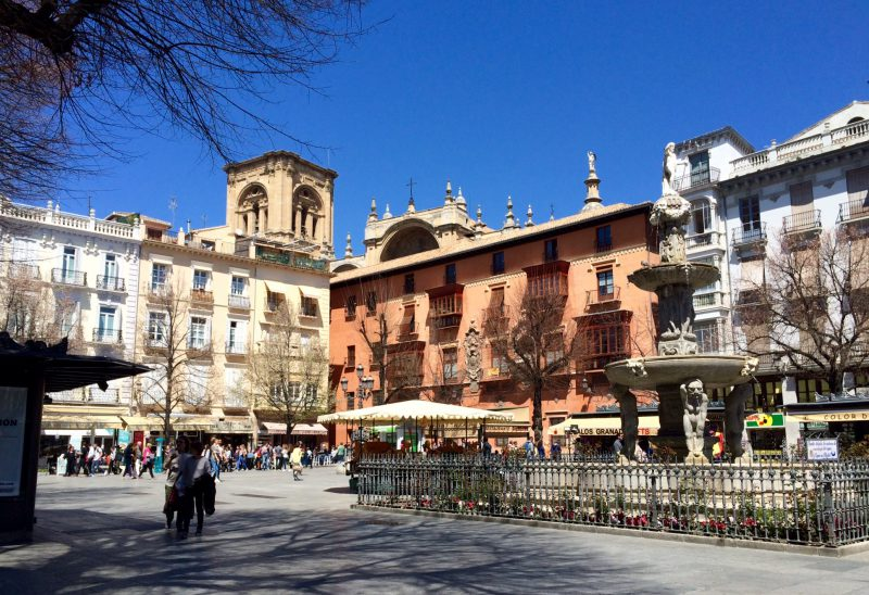 Plaza de bib-rambla Granada spain