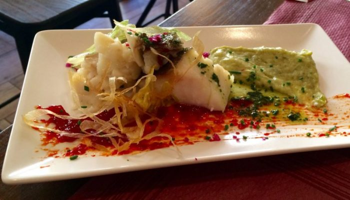 Cod with creamed potatoes at Vineria Cervantes