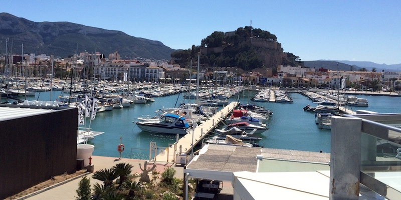 view of denia castle from port