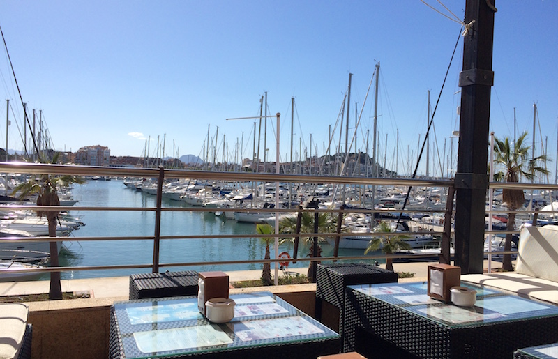 view from isla tortuga deck denia spain