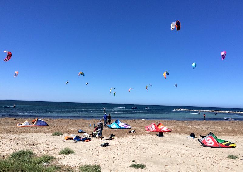 kitesurfer denia spain beach