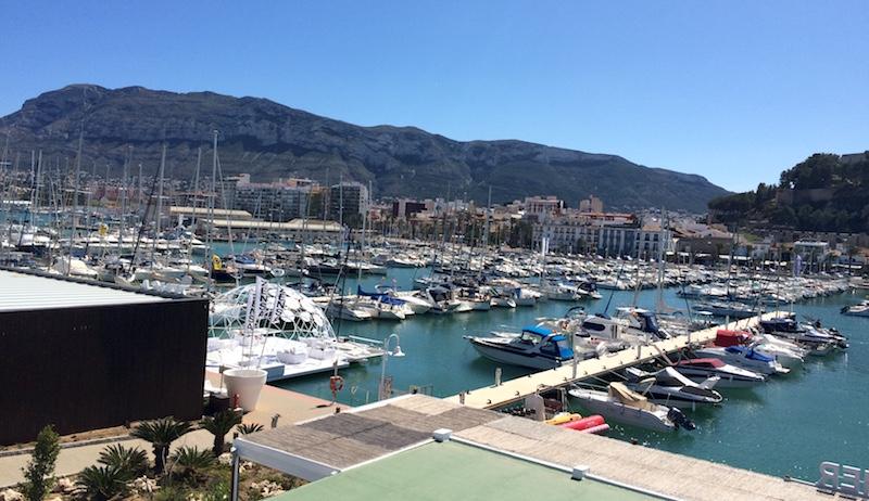 view of denia port spain