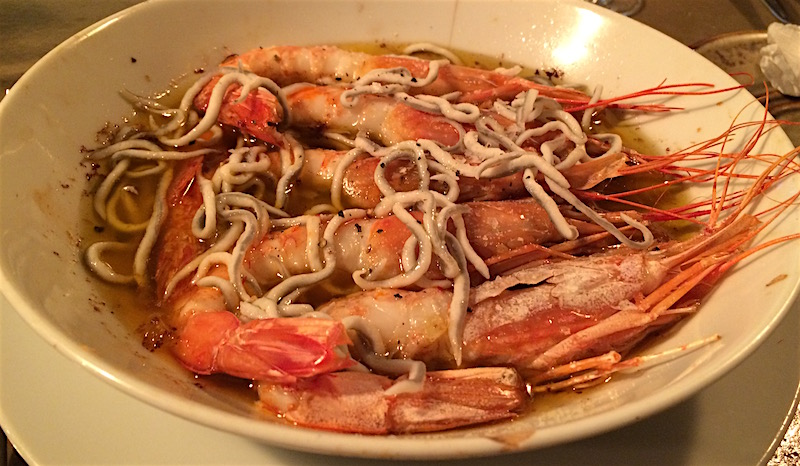 garlic shrimp baby eels denia spain