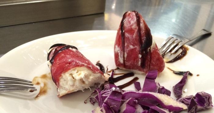 Seafood stuffed peppers tapa Granada