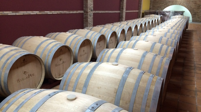 Bodegas real wine barrels