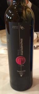 Bottle of wine Finca Marisanchez
