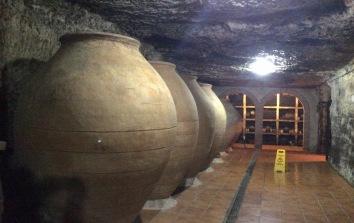 Tinajas in Dionisos wine cave