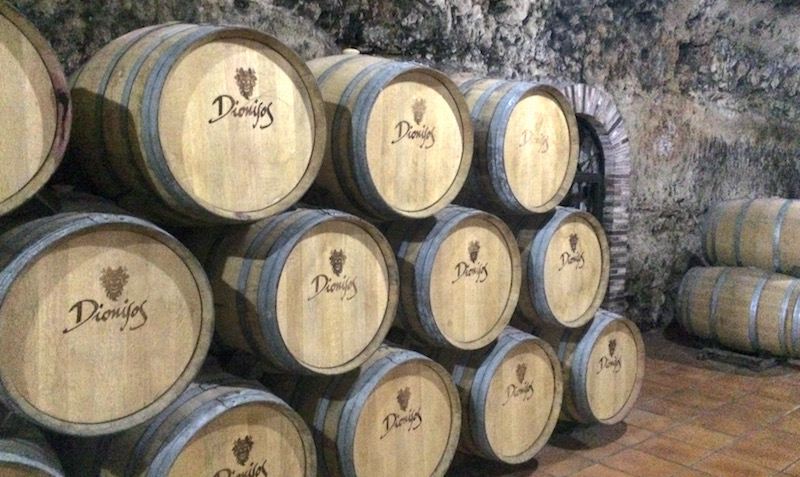 Dionisos wine barrels Valdepenas spain
