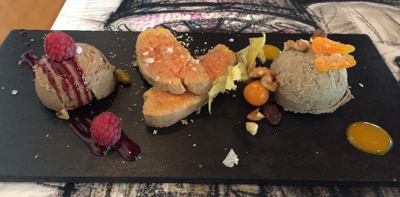 Plate of pate foie gras