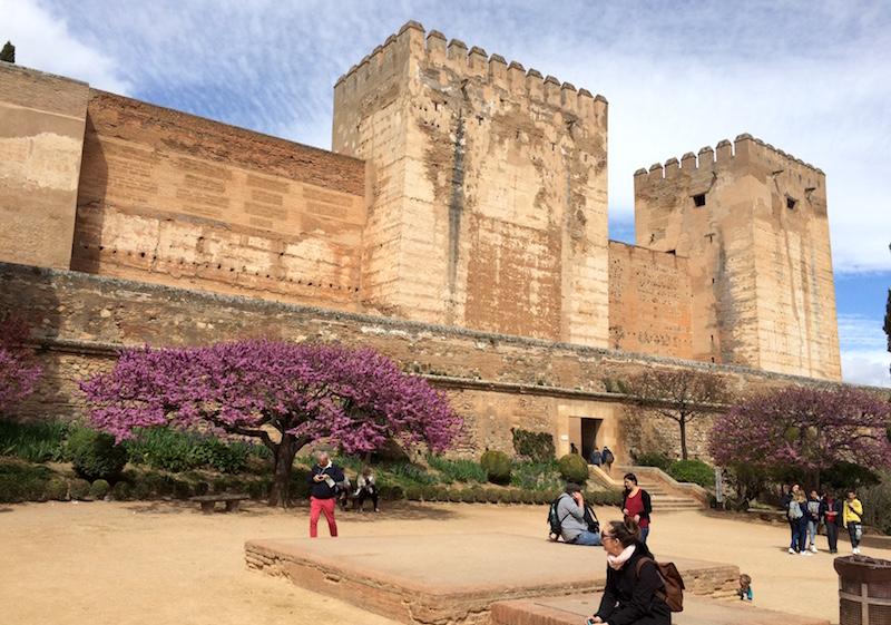 plaza de los aljibes alhambra granada spain