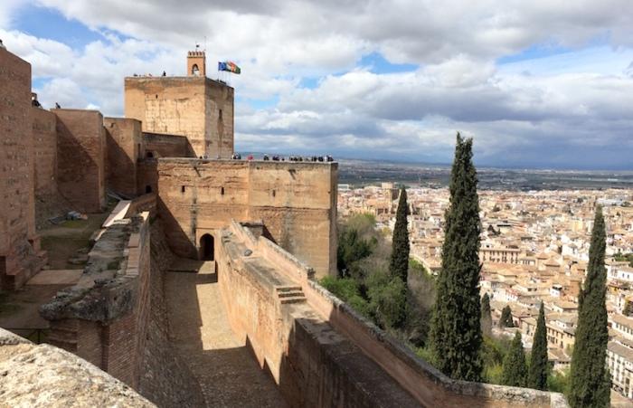 watch tower alcazaba alhambra