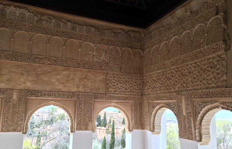 architectural detail generalife alhambra granada