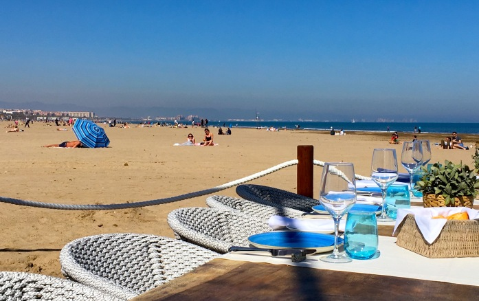 Marina Beach Club Chiringuito view Valencia Spain