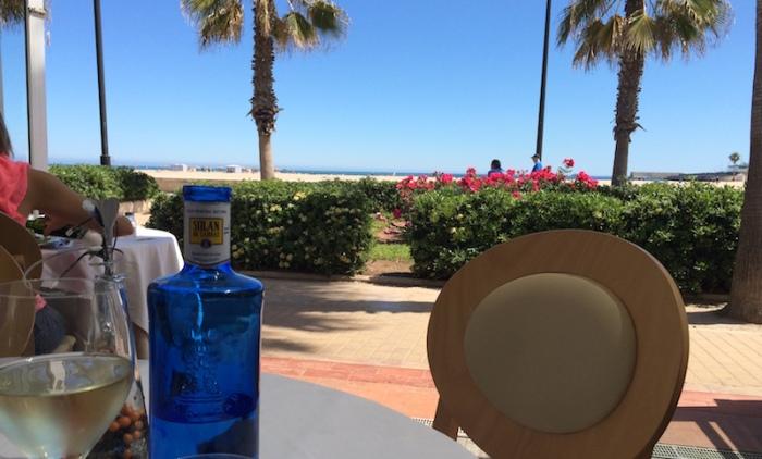 beach view la marcelina valencia spain
