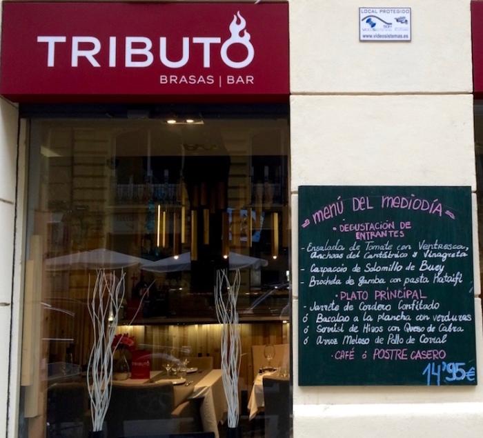 Tributo Valencia menu del Mediodia exterior