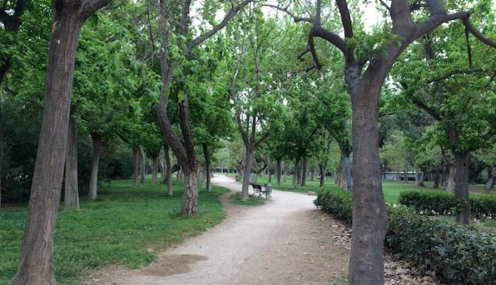 Valencia Spain Turia gardens
