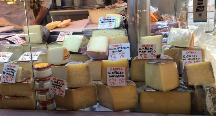 cheese atarazanas market malaga spain