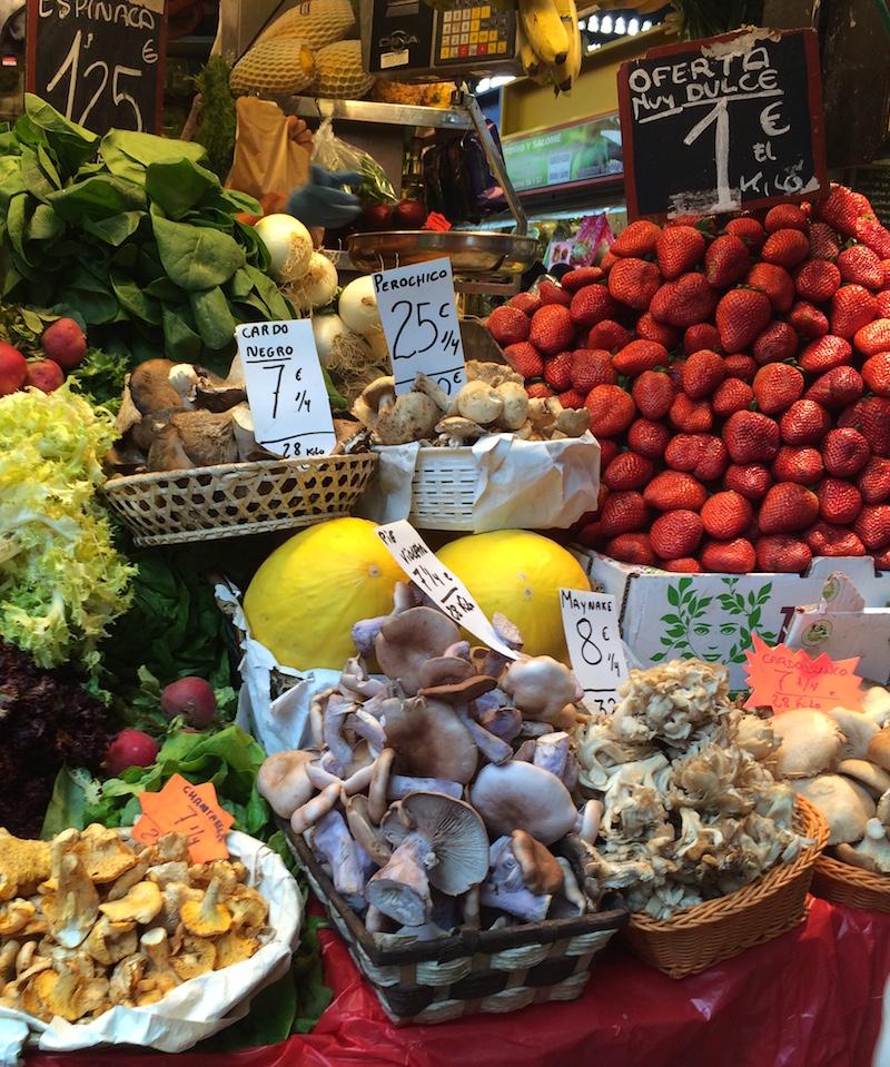 mushrooms produce Atarazanas Market Malaga spain
