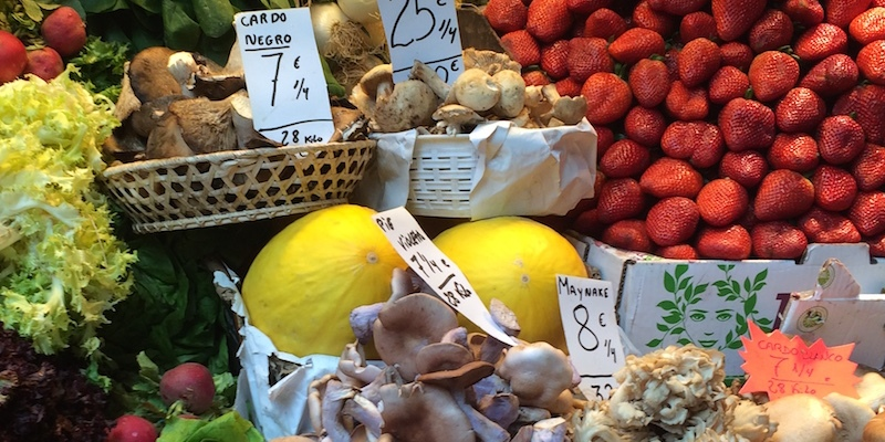 mushrooms produce Atarazanas Market Malaga spain