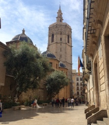 Valencia cathedral el miguelete tower spain