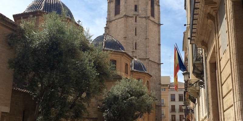 Valencia cathedral el miguelete tower spain