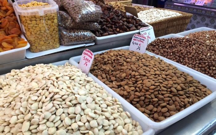 almonds nuts valencia spain market
