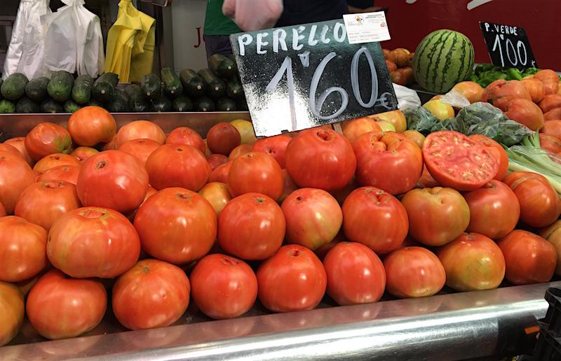 Perello tomato Valencia Spain market