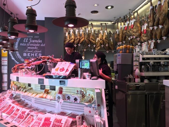 Beher Jamon shop Valencia Spain