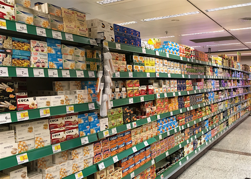 conservas canned seafood supermarket aisle