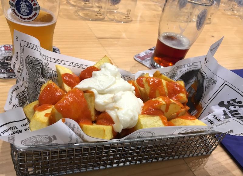 patatas bravas Las Cervezas del Mercado