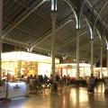 mercado de colon interior at night valencia