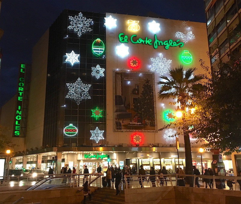 El Corte Ingles Valencia Spain Christmas