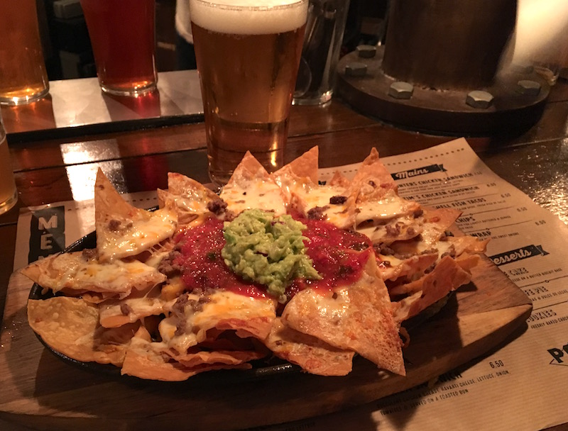 Portland Alehouse nachos Valencia Spain