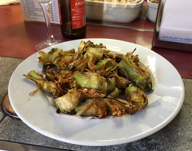 Fried Artichokes Boatella Tapas Valencia