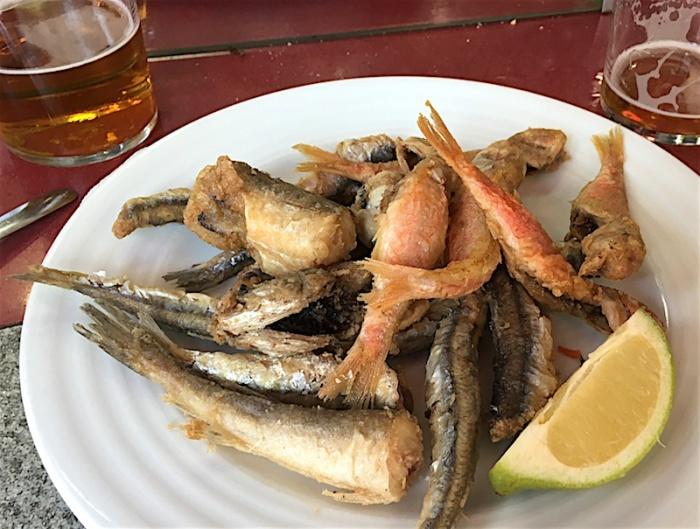 Fried Fish Boatella Tapas Valencia