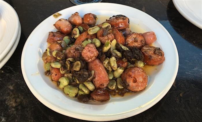 sausages with beans Las Cuevas Valencia