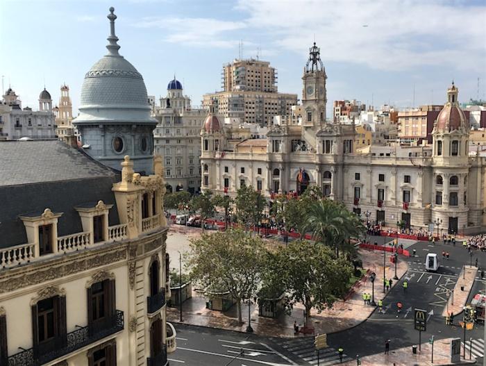 Plaza de Ayuntamiento Valencia Spain