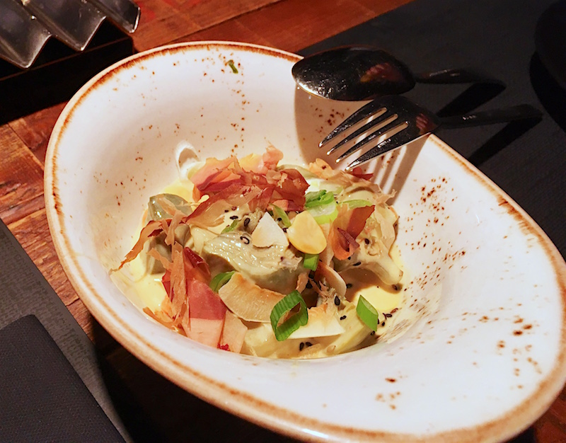 Artichoke salad Japanese dressing Canalla Bistro Valencia