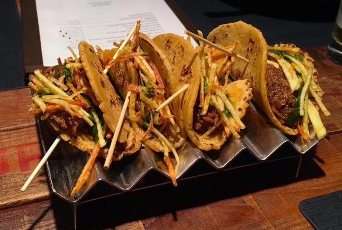 Mexican taco rabo de toro