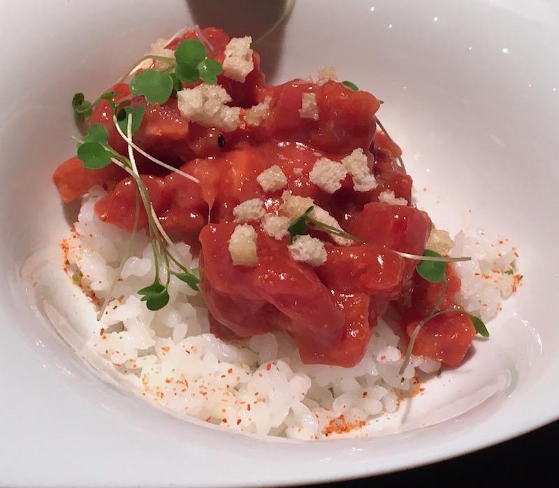 Spicy red tuna tartare Canalla Bistro Valencia