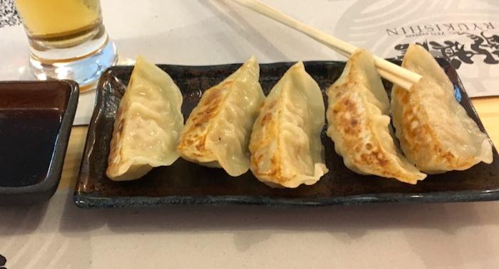 Gyoza dumplings with pork Ryukishin Valencia