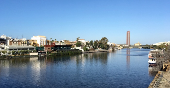 river Guadalquivir in Sevilla Spain