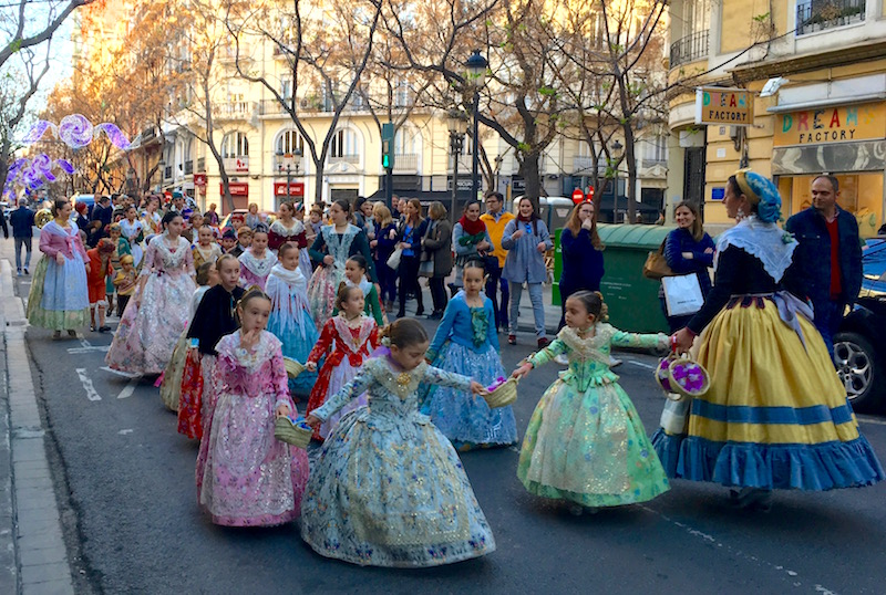 Girls in Valencian Dress
