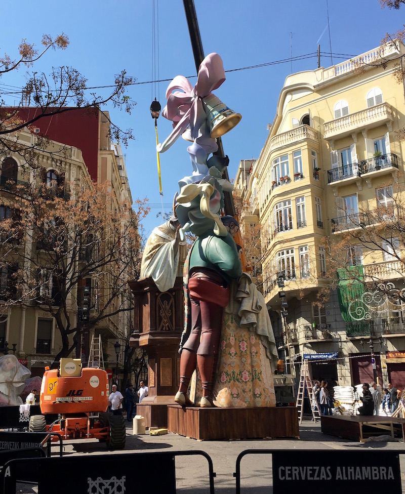 Fallas construction Valencia Spain